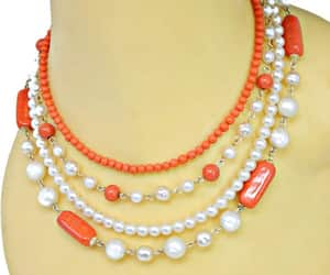 beaded necklace, vintage jewelry, and multi strand image
