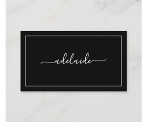 black, brand, and business card image