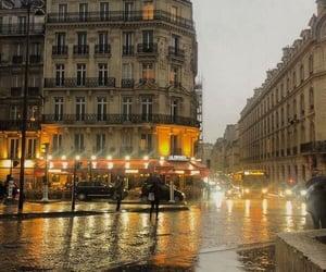 paris, rain, and travel image