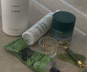 green, aesthetic, and cosmetics image