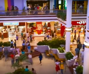 1980s, shopping mall, and mall image