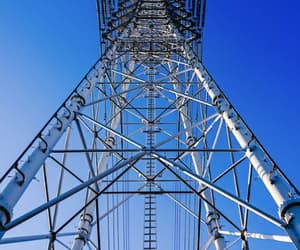powerline, sky, and lattice climbing image