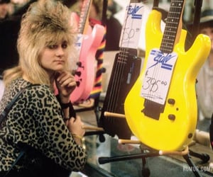 1980s, guitar, and shopping image