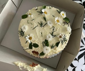 cake, clouds, and flowers image