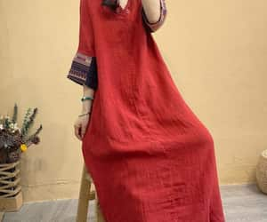 kaftan, linen long dress, and women linen dresses image