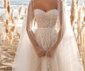 dress, bridal, and bride image