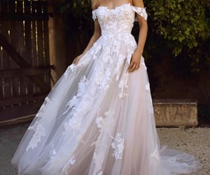 blanche, mariage, and robe image