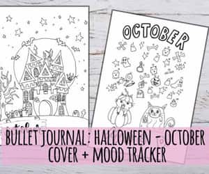 cover, planning, and halloween mood image