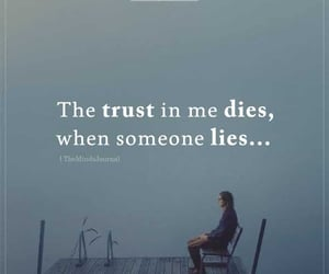 lies, trust, and Relationship image