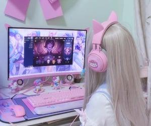 aesthetic, gamer, and gamer girl image