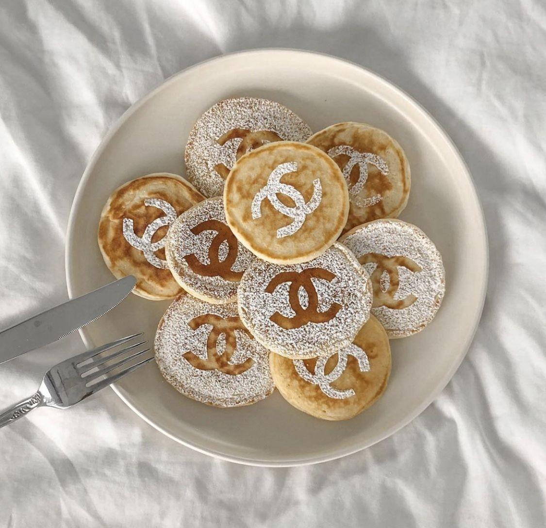 pancakes, chanel, and food image
