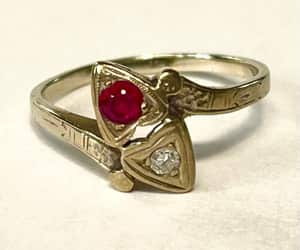 etsy, estate jewelry, and antique ring image