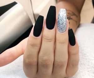 girl, nails, and fake nail image