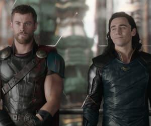 Marvel, chris hemsworth, and tom hiddleston image