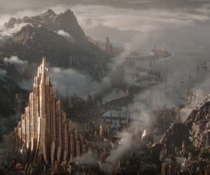 cinematography, Marvel, and asgard image