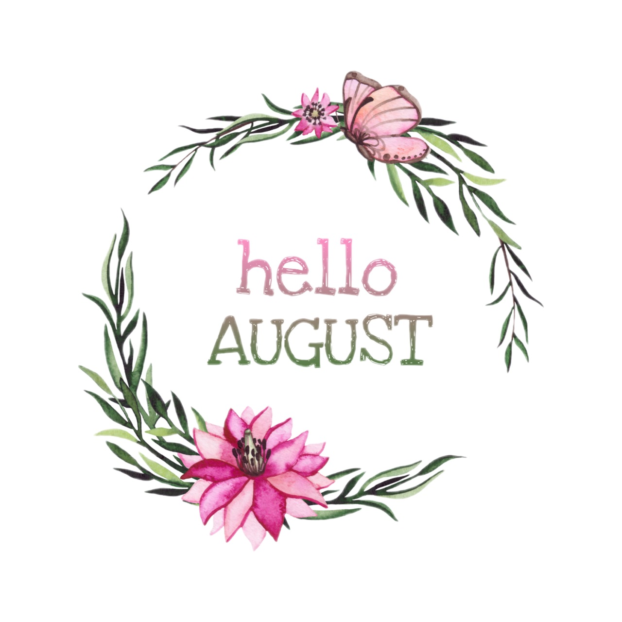 aesthetic, August, and butterfly image