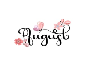 August, hello, and new image