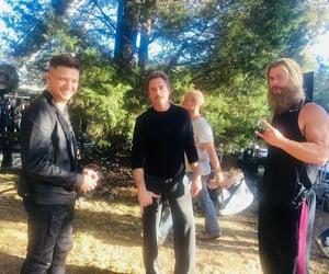 Avengers, rdj, and chris hemsworth image