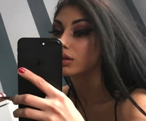 black hair, eyelashes, and feed image