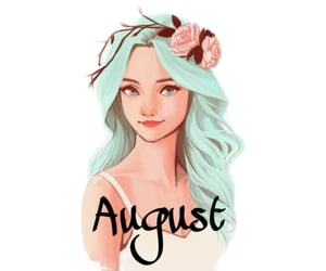 August, autoral, and girl image