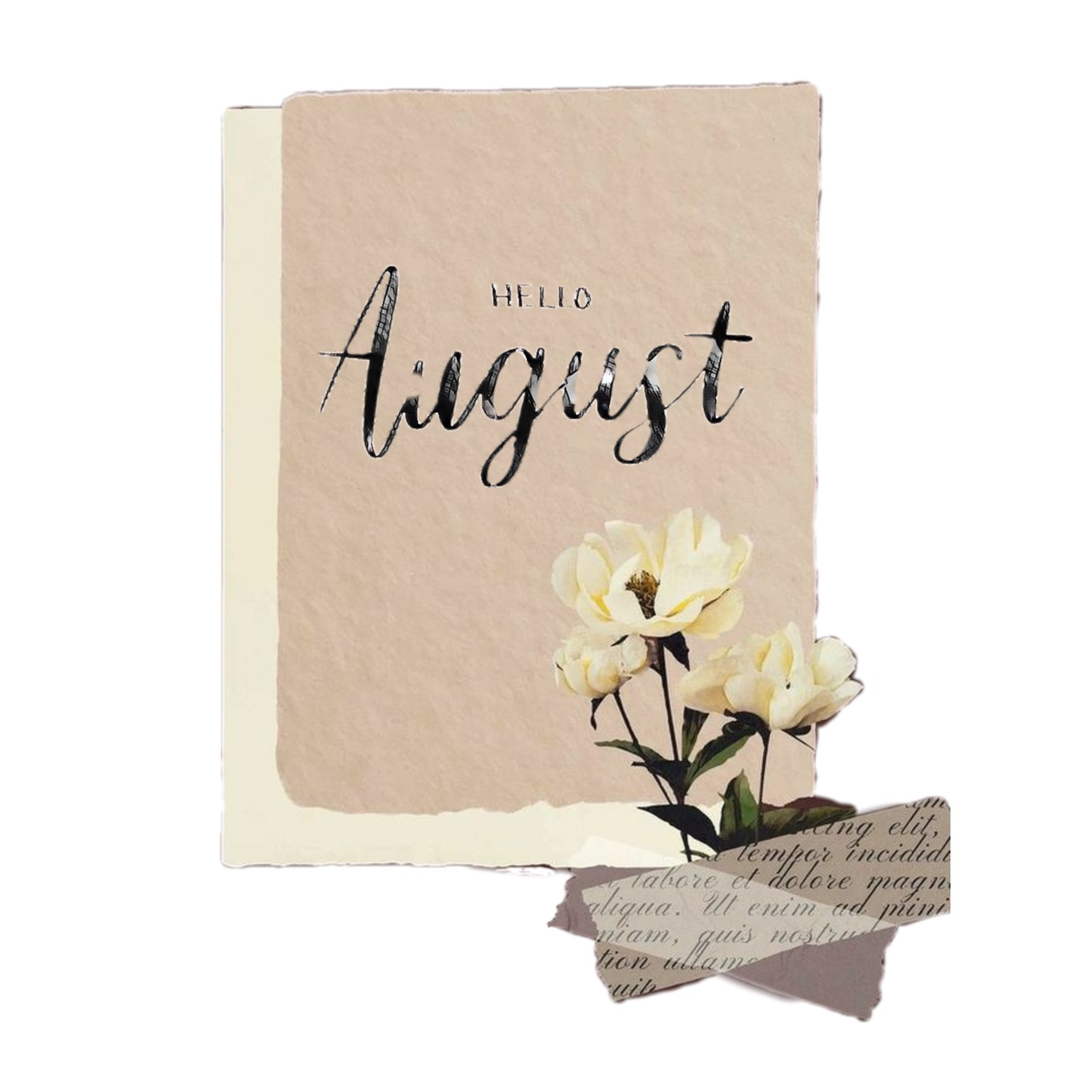 August, hello, and indie image