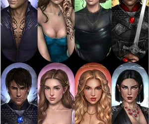 feyre, armen, and cassian image