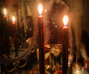 candles and gothic image