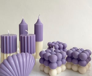 candle, minimal, and purple image
