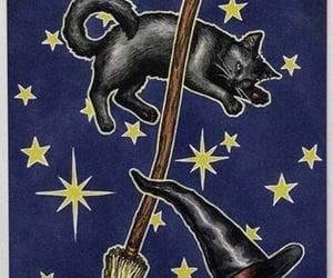 bruxa, tarot, and gato preto image