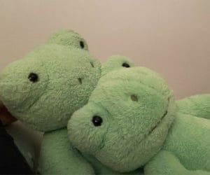 frog, green, and plushie image