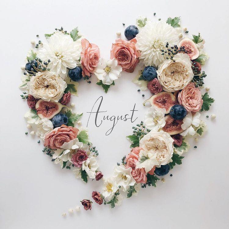 August, happy vibes, and flowers image