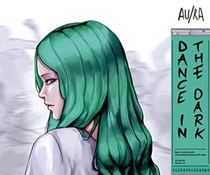 alt, green hair, and grey image