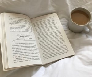 bedroom, books, and drink image