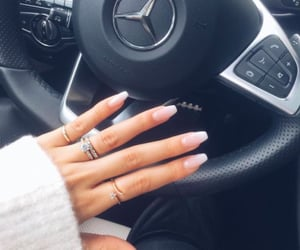 nails, rings, and mercedes image