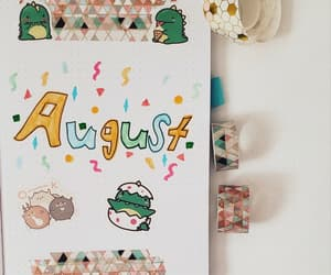 August, summer, and bujo image