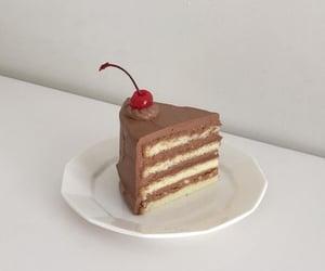 cake, chocolate cake, and cake decoration image