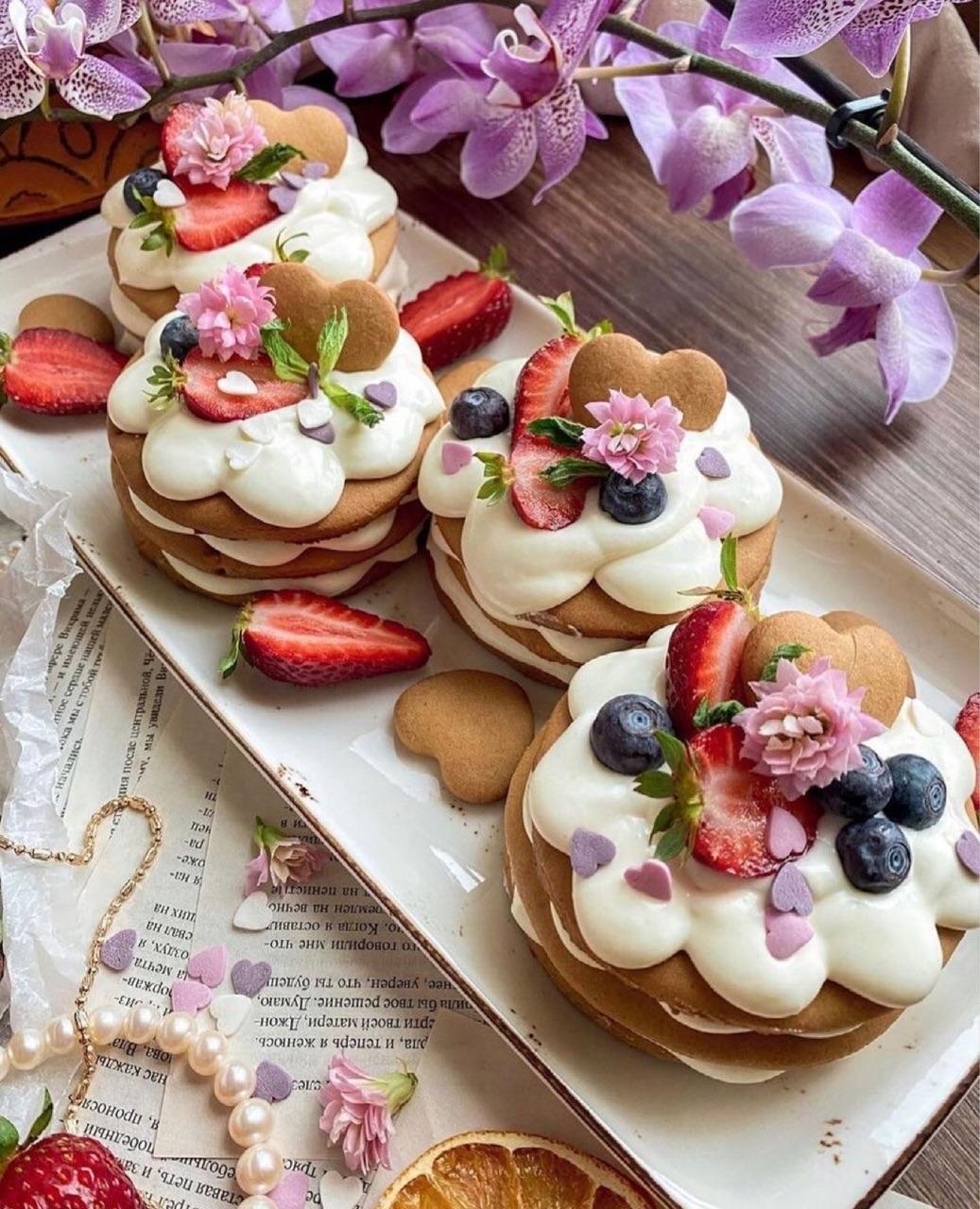 food, cream, and dessert image