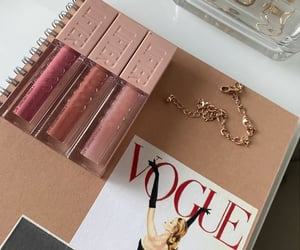 details, gold, and makeup image