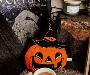 coffee, pumpkin, and spooky image