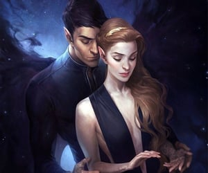 feyre, acowar, and rhysand image