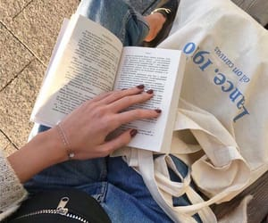 aesthetic, reading, and book image
