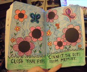 art, book, and butterflies image