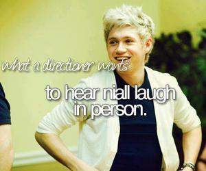 niall horan, one direction, and laugh image