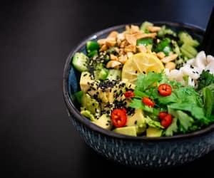 avocado, salad, and healthy food image