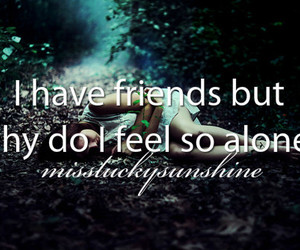 alone, quote, and friends image