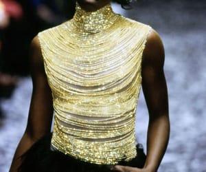 Alexander McQueen, dress, and gold image