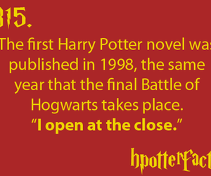 harry potter, fact, and book image