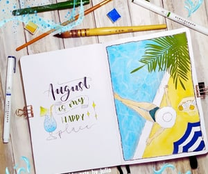 agenda, August, and doodles image