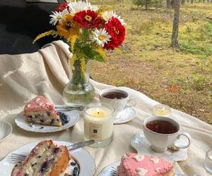 cake, drinks, and food image