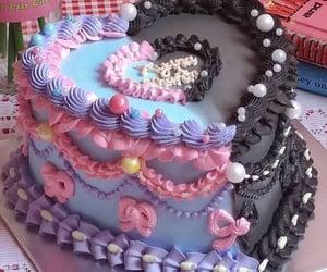 black, cake, and food image